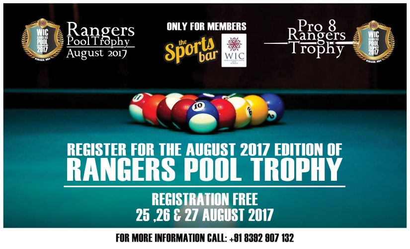 RANGERS POOL TOURNAMENT AT WIC INDIA DEHRADUN – AUGUST 2017