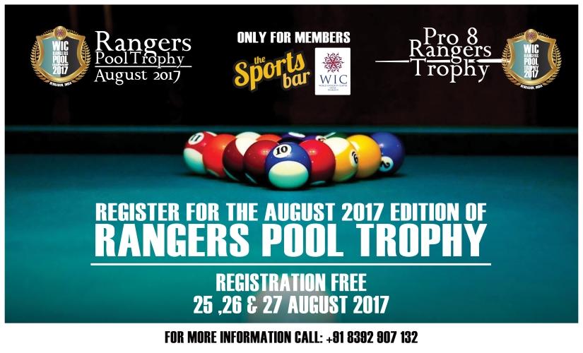 RANGERS POOL TOURNAMENT AT WIC INDIA DEHRADUN – AUGUST2017